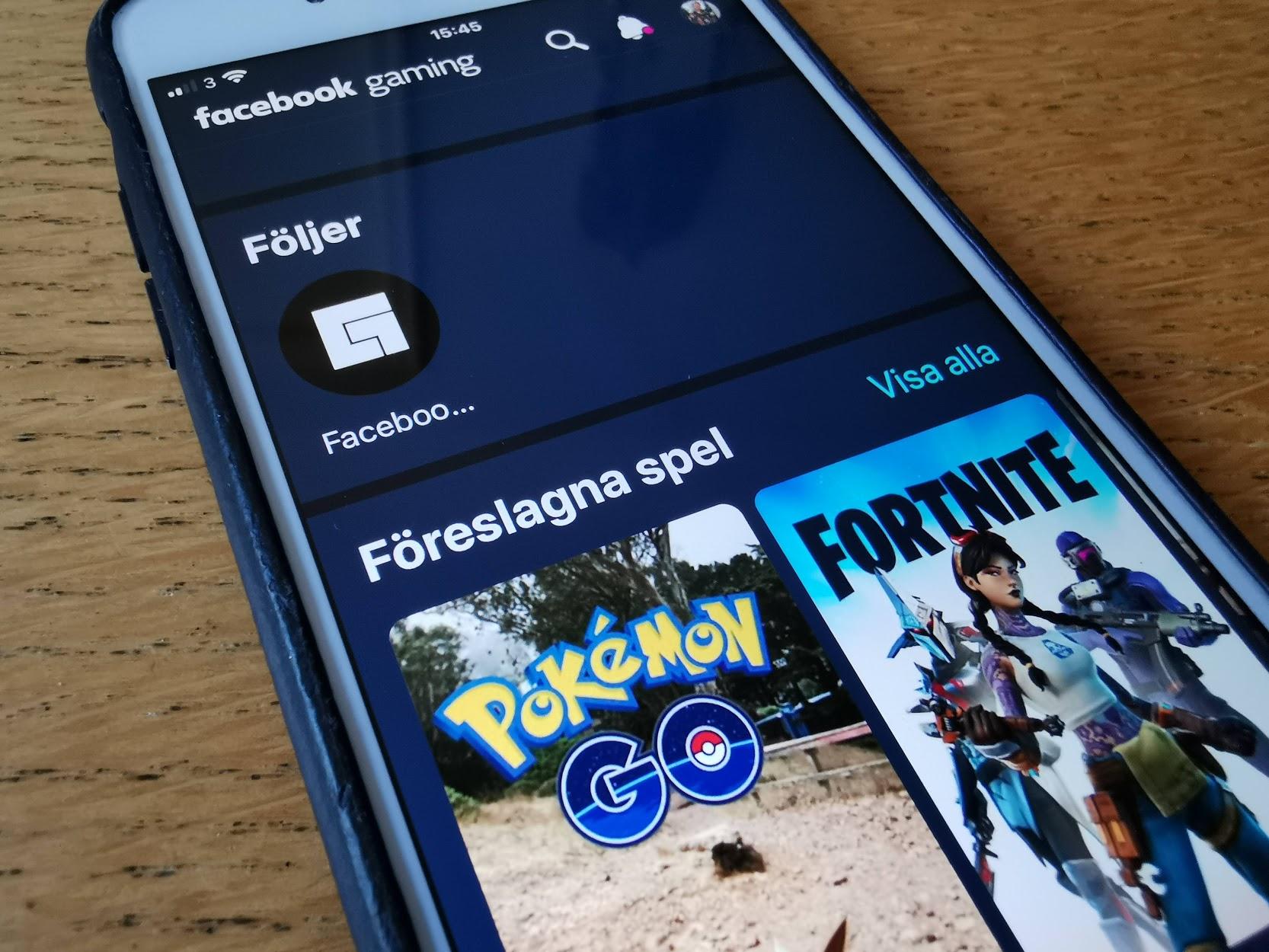 Facebook Gaming släppt till iOS utan spel Går nu bara att titta på andra som spelar spel