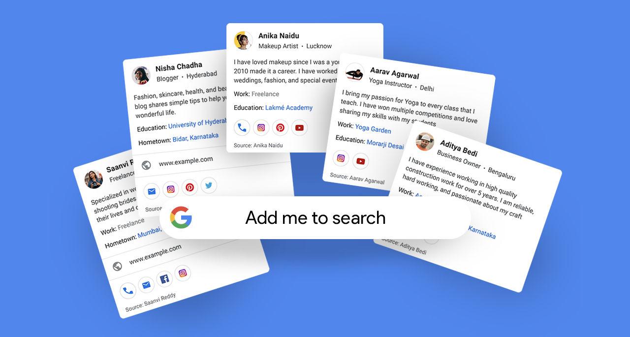 Google testar digitala visitkort direkt i sökresultatet