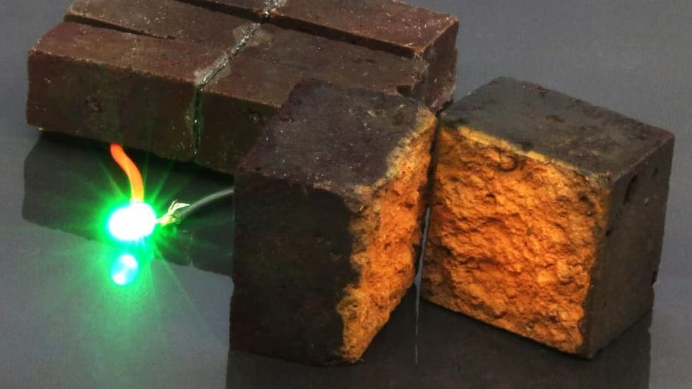 Forskare lyckas lagra energi i tegelstenar