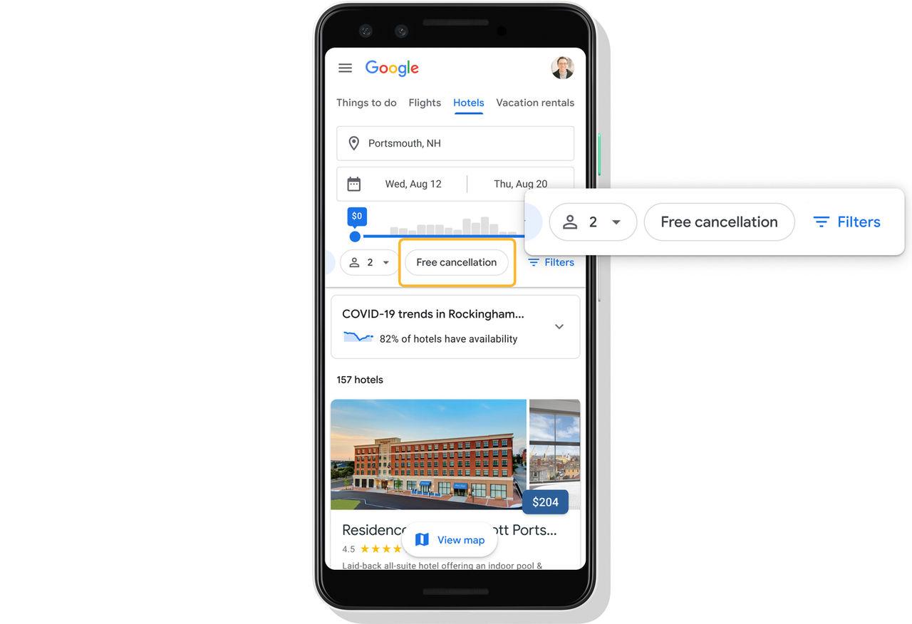 Google Travel pandemianpassas