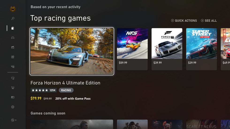Microsoft visar upp gränssnittet i Xbox Series X