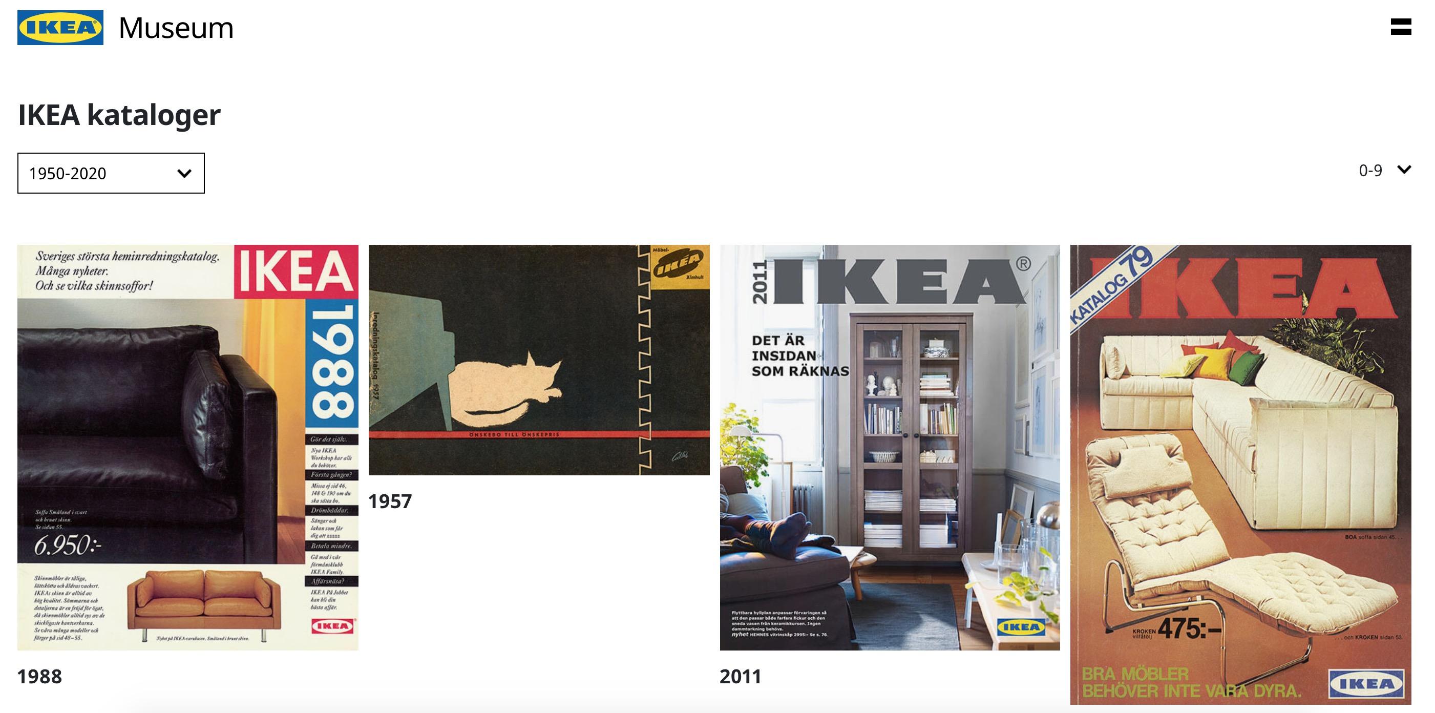 Kolla in gamla IKEA kataloger. Reklam från förr   Feber