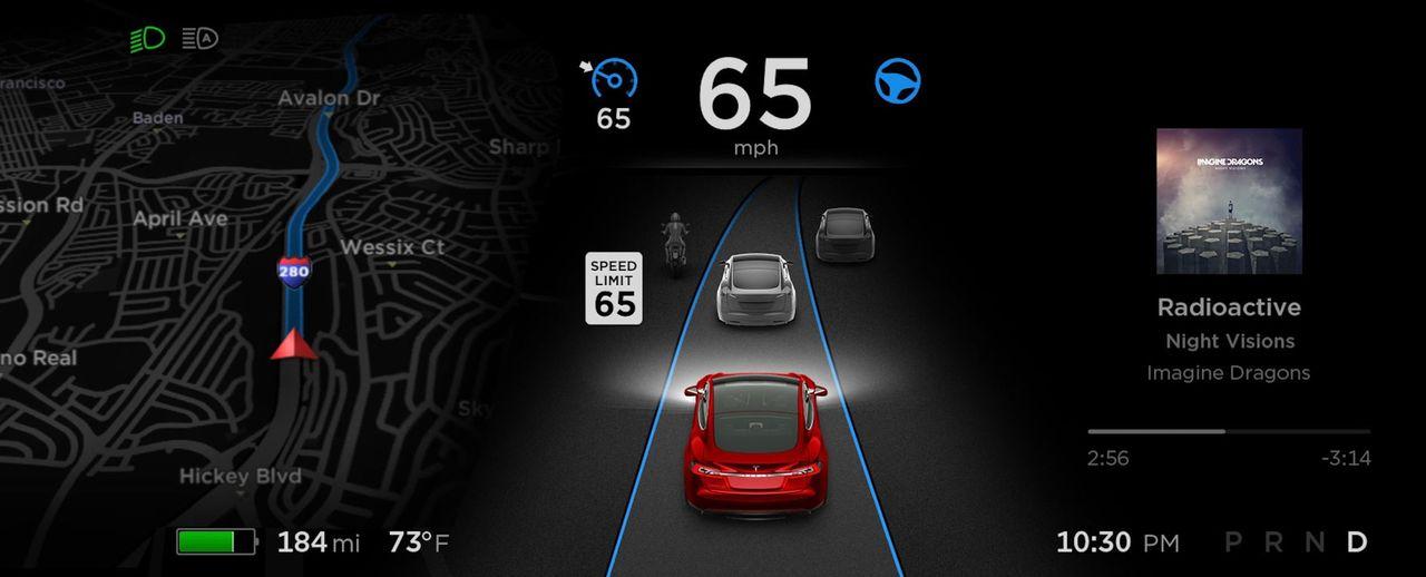Nu kan Teslas bilar se vilken hastighetsgräns som gäller