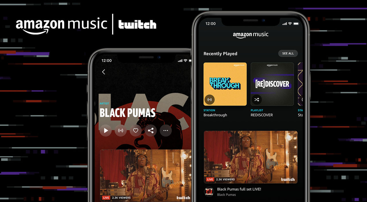 Twitch integreras i Amazon Music