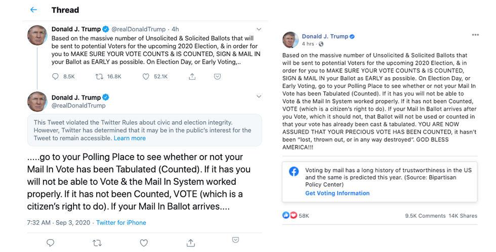 Twitter gömmer ännu en av Donald Trumps tweets