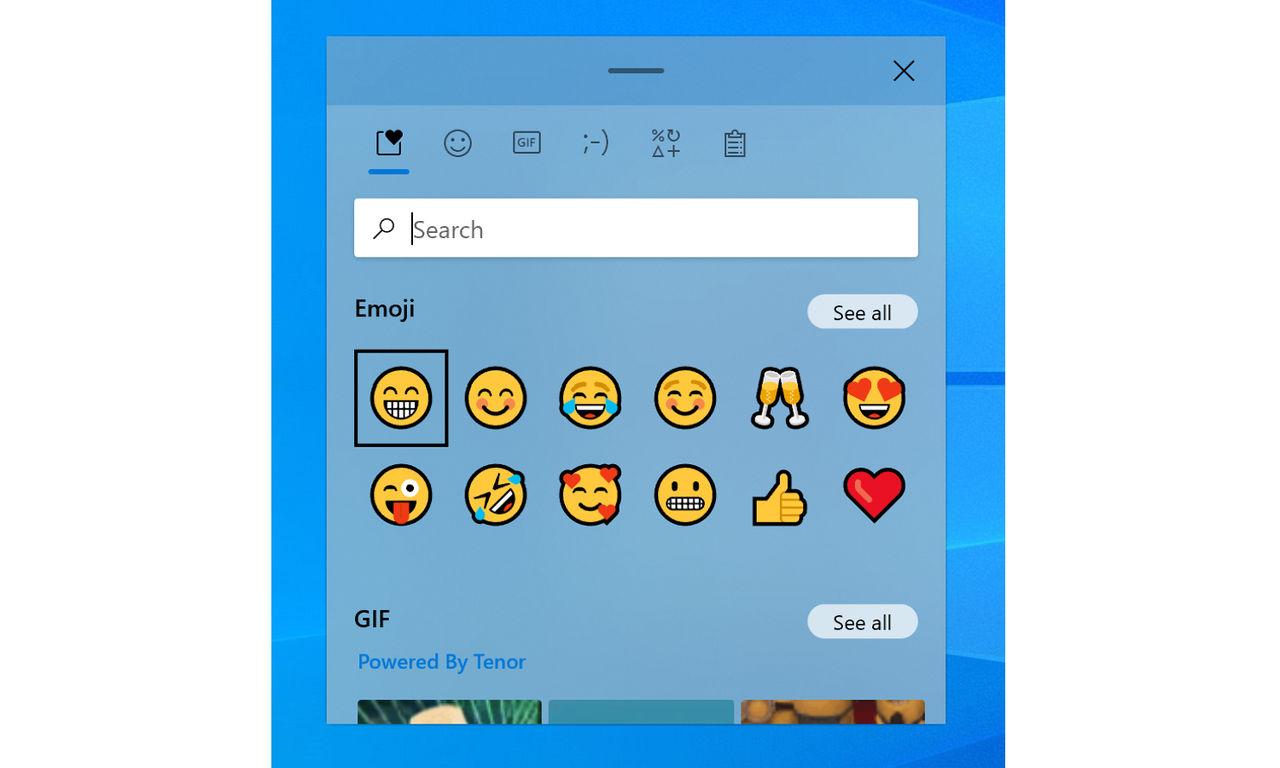 Windows 10 får integrerat gif-sökning