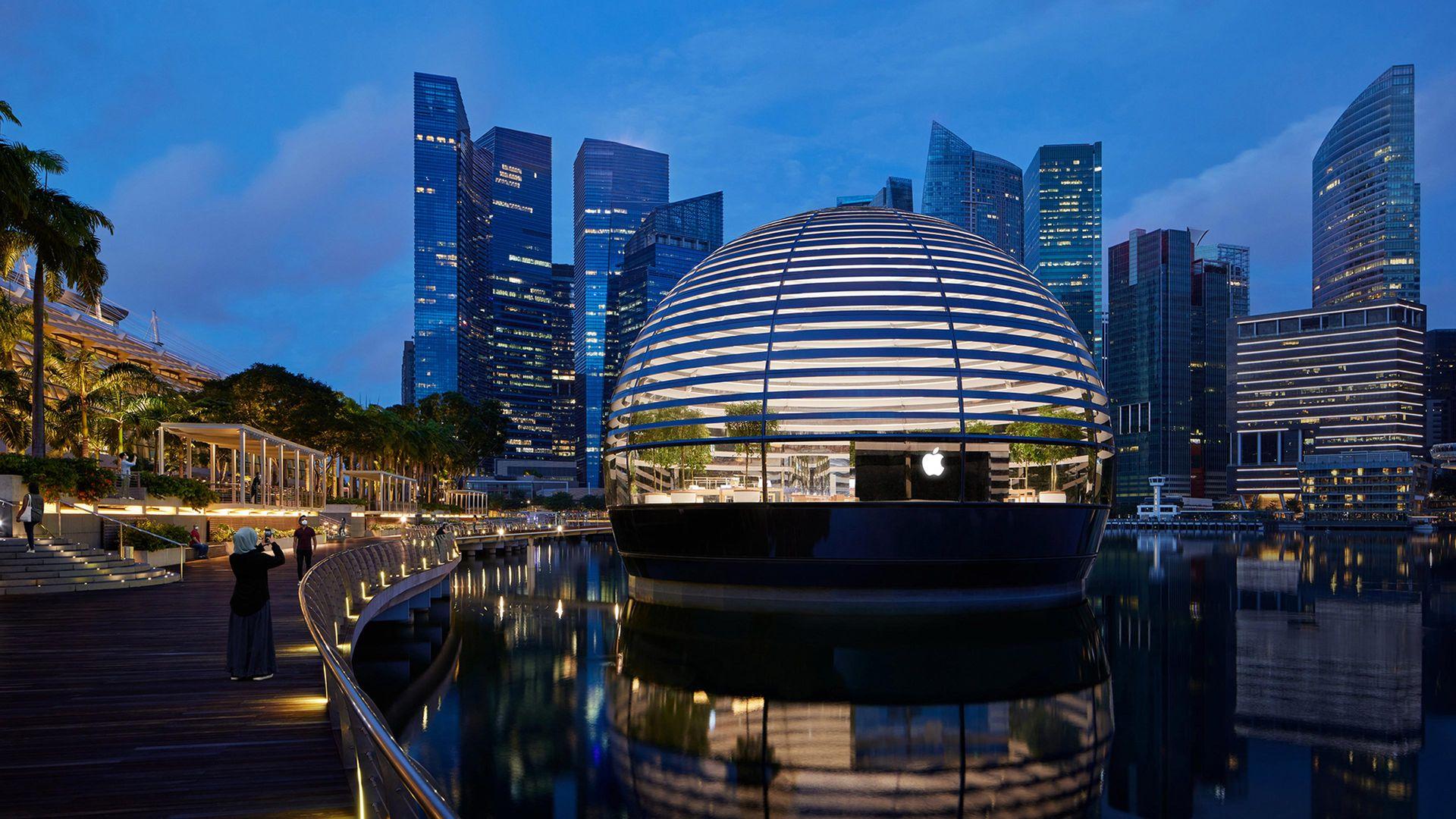 Apple öppnar globen i Singapore nu på torsdag