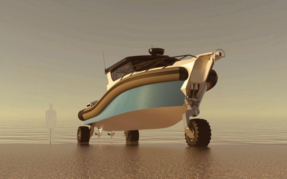 Sealegs visar upp ny amfibiebåt