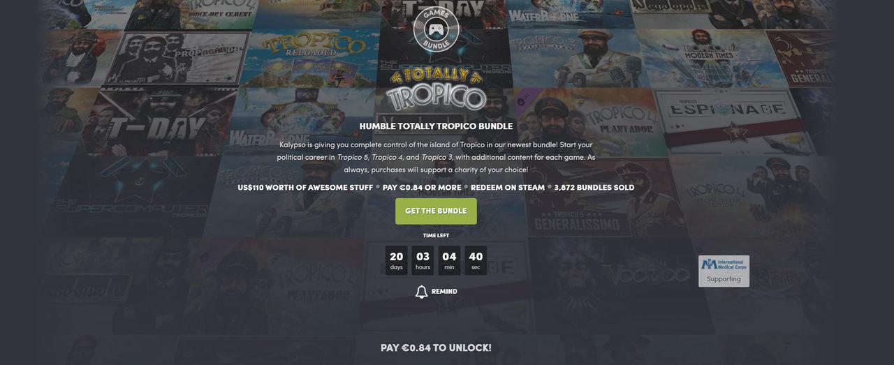 Fynda Tropico-spel i ny Humble Bundle