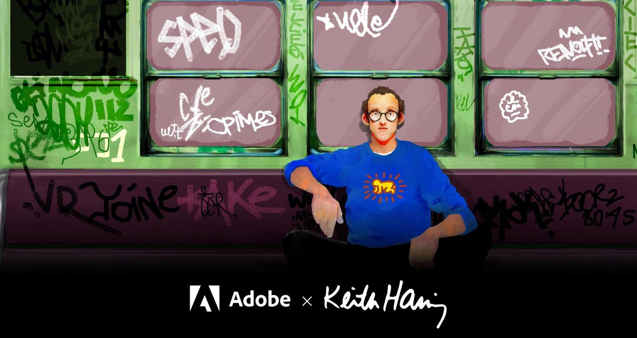 Adobe släpper Keith Haring-penslar