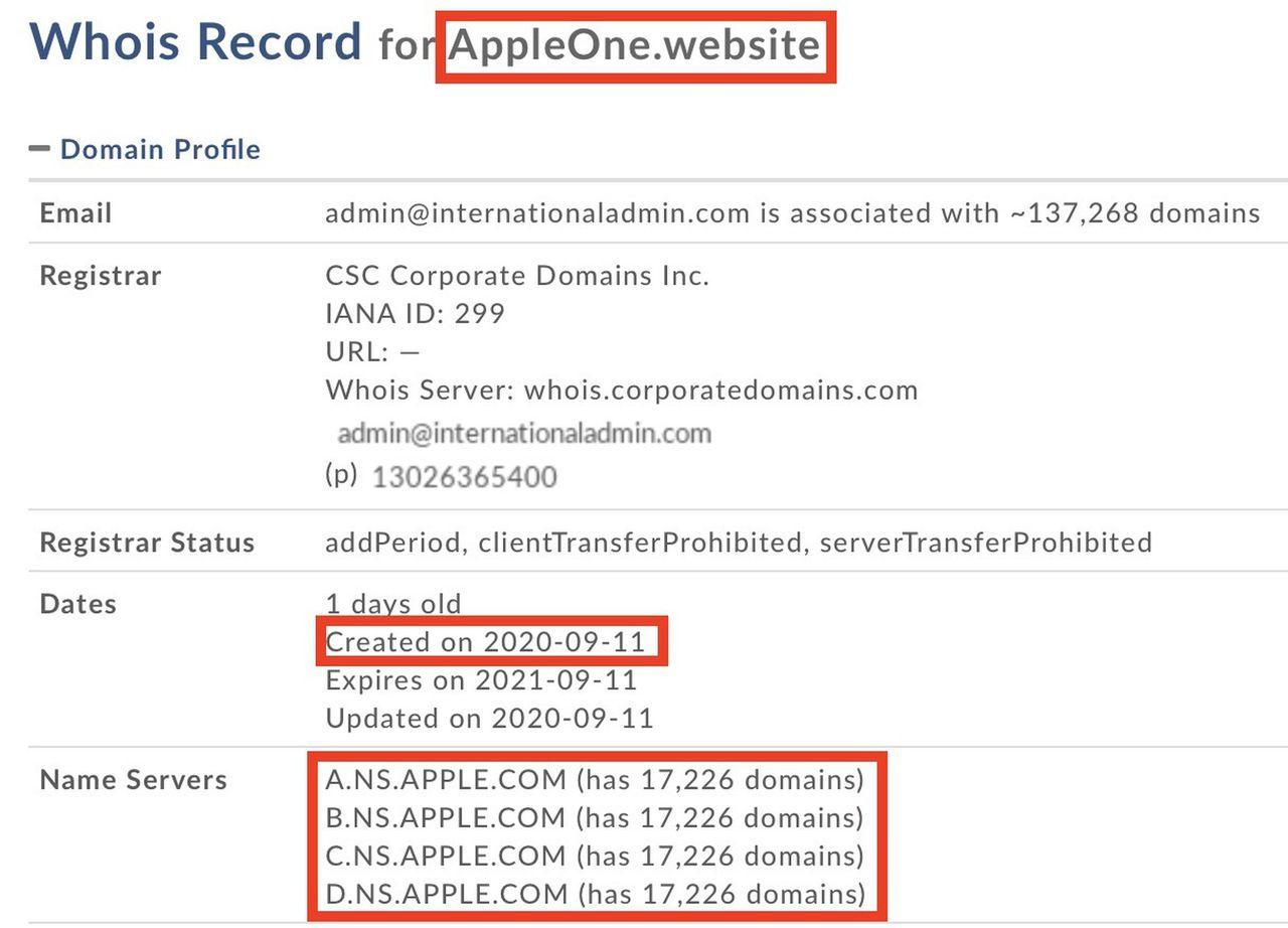 Apple registrerar Apple One-domäner