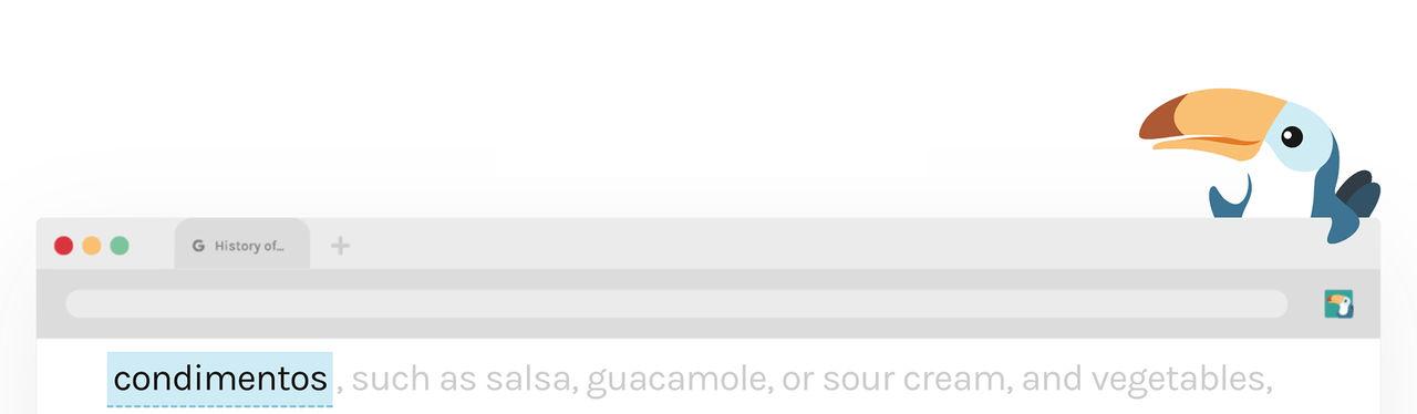 Toucan lär dig utländska ord samtidigt som du läser annat