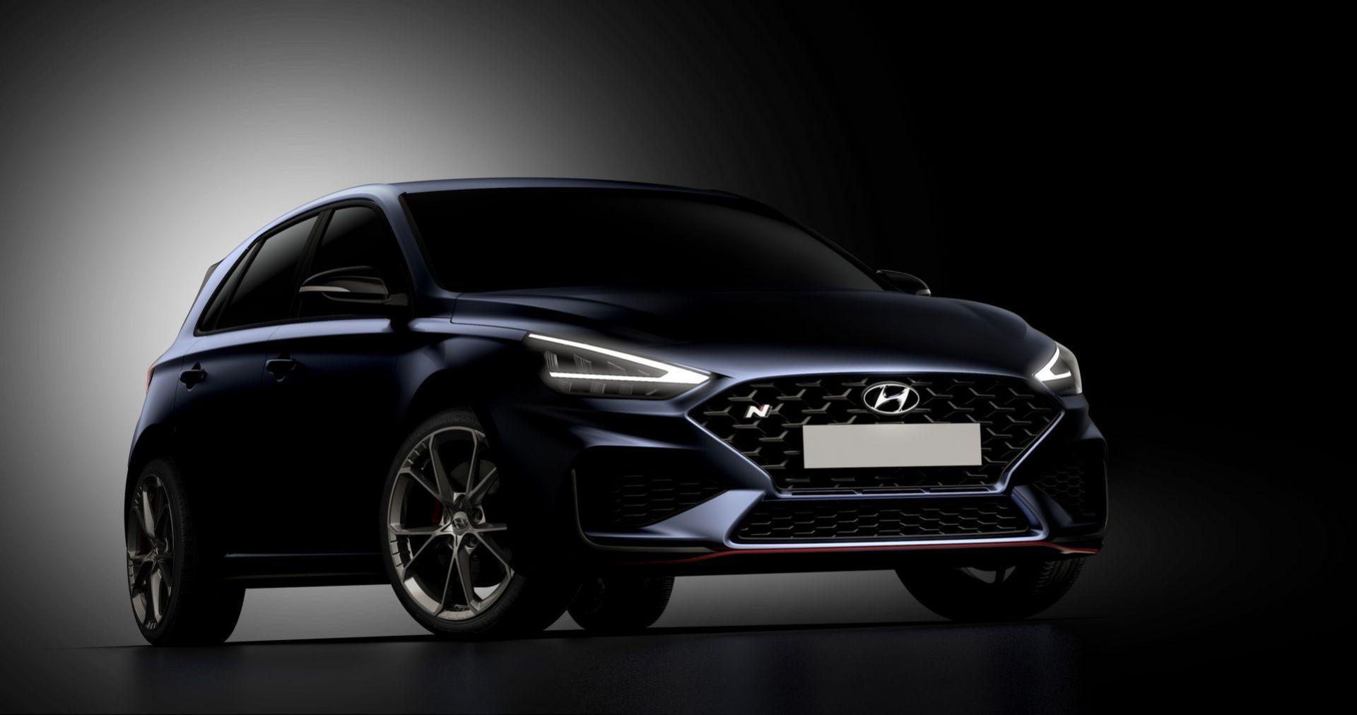 Hyundai teasar uppdaterade i30 N