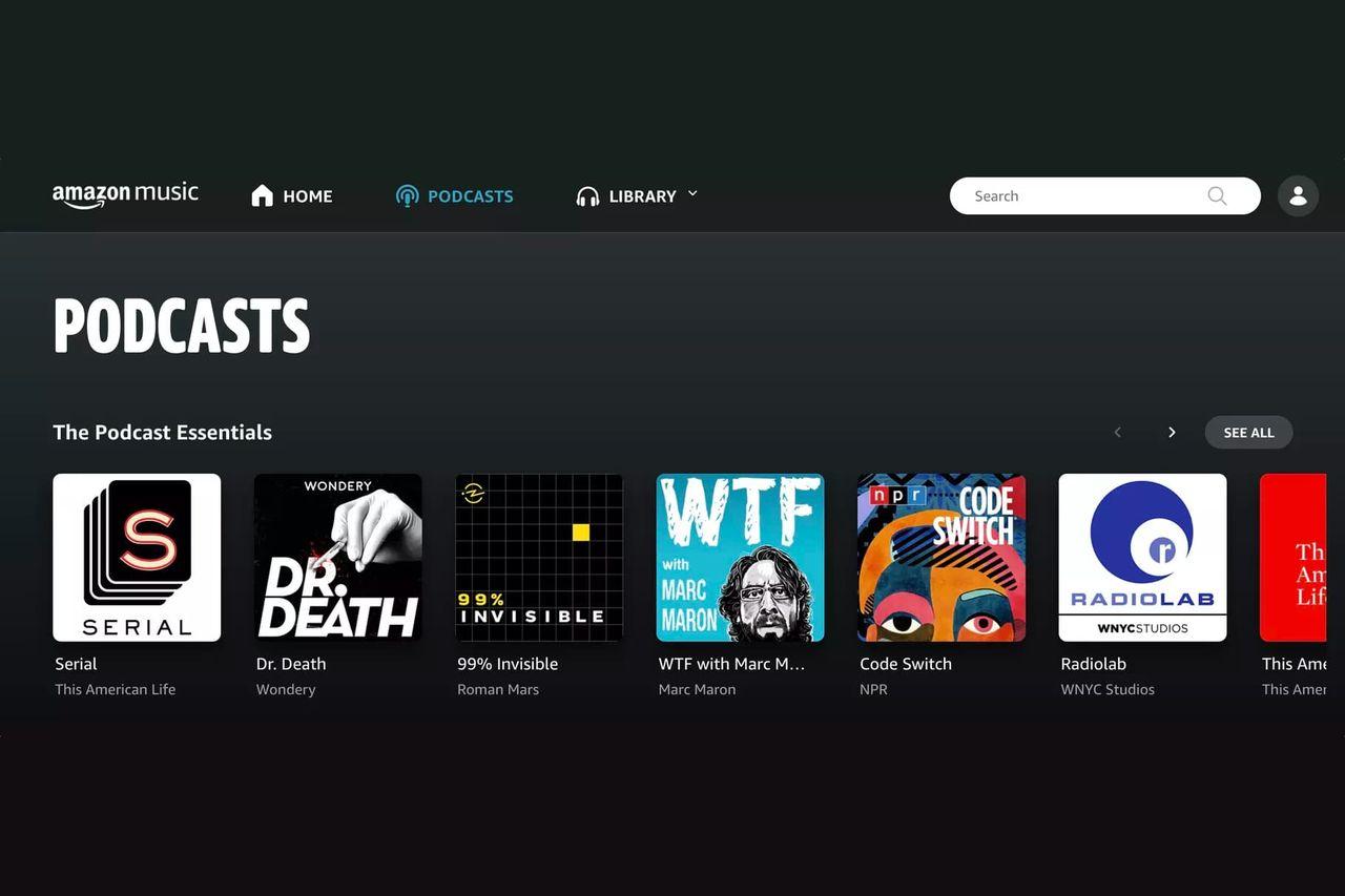 Amazon Music börjar streama podcasts