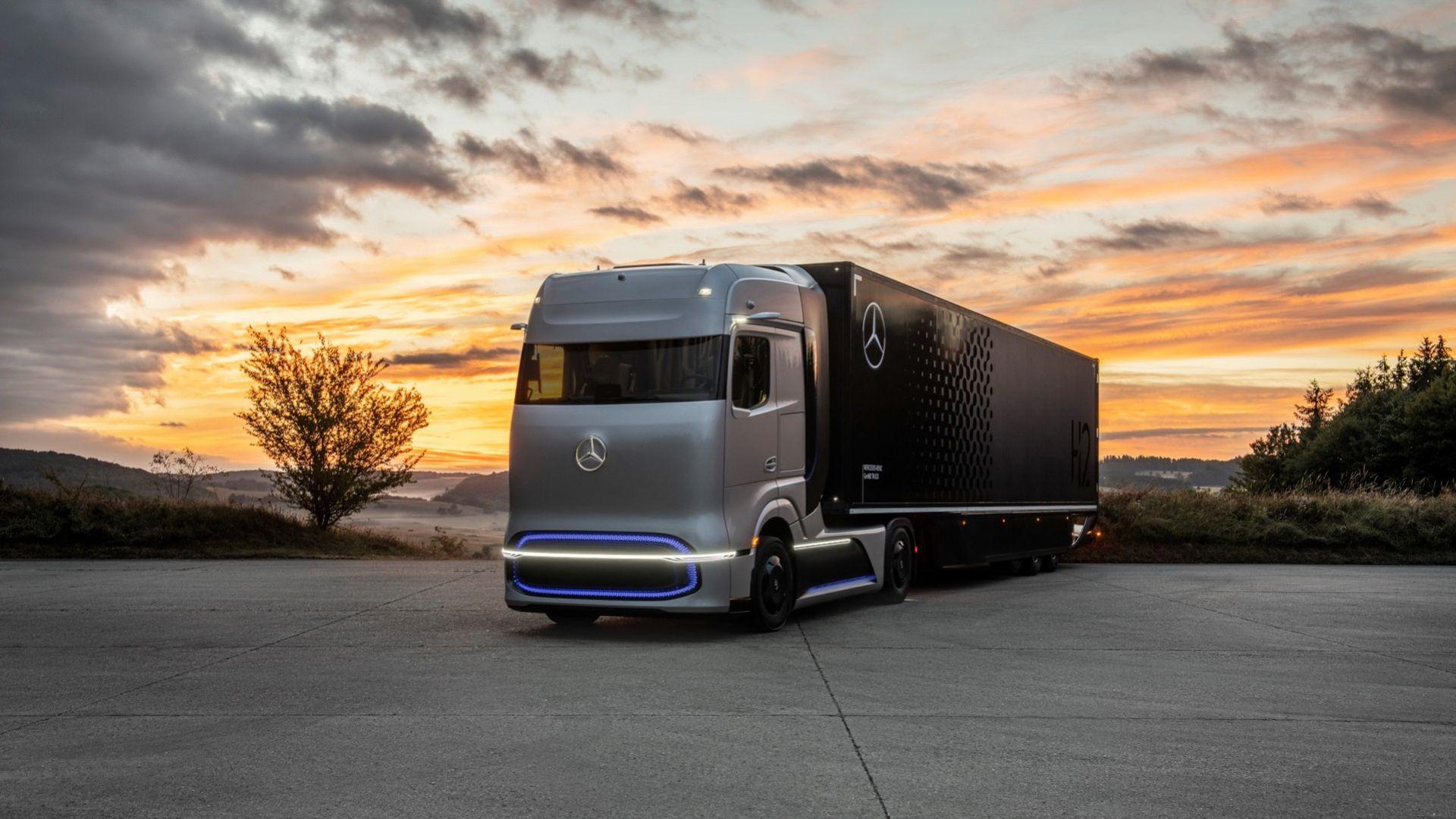 Det här är Mercedes nya vätgasdrivna lastbil