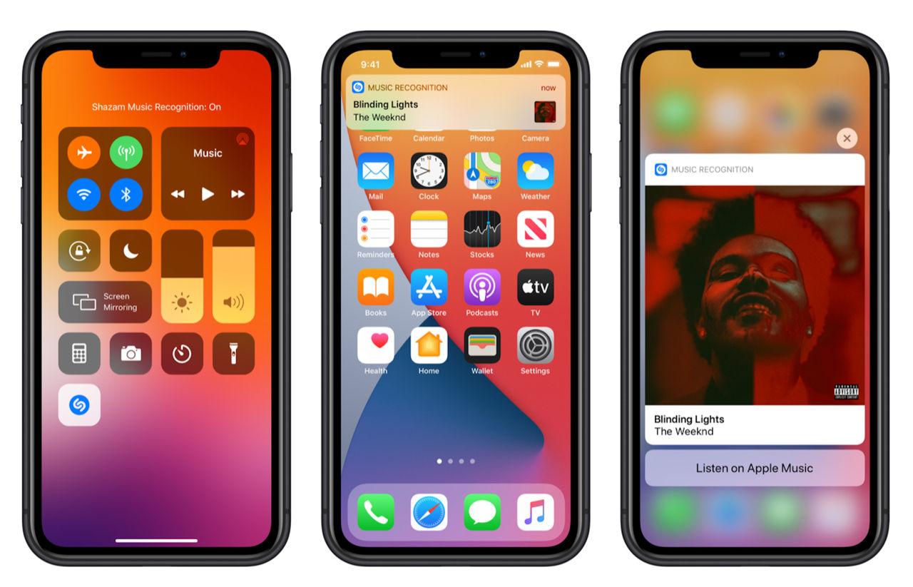 Apple bygger in kontroller för Shazam i iOS 14