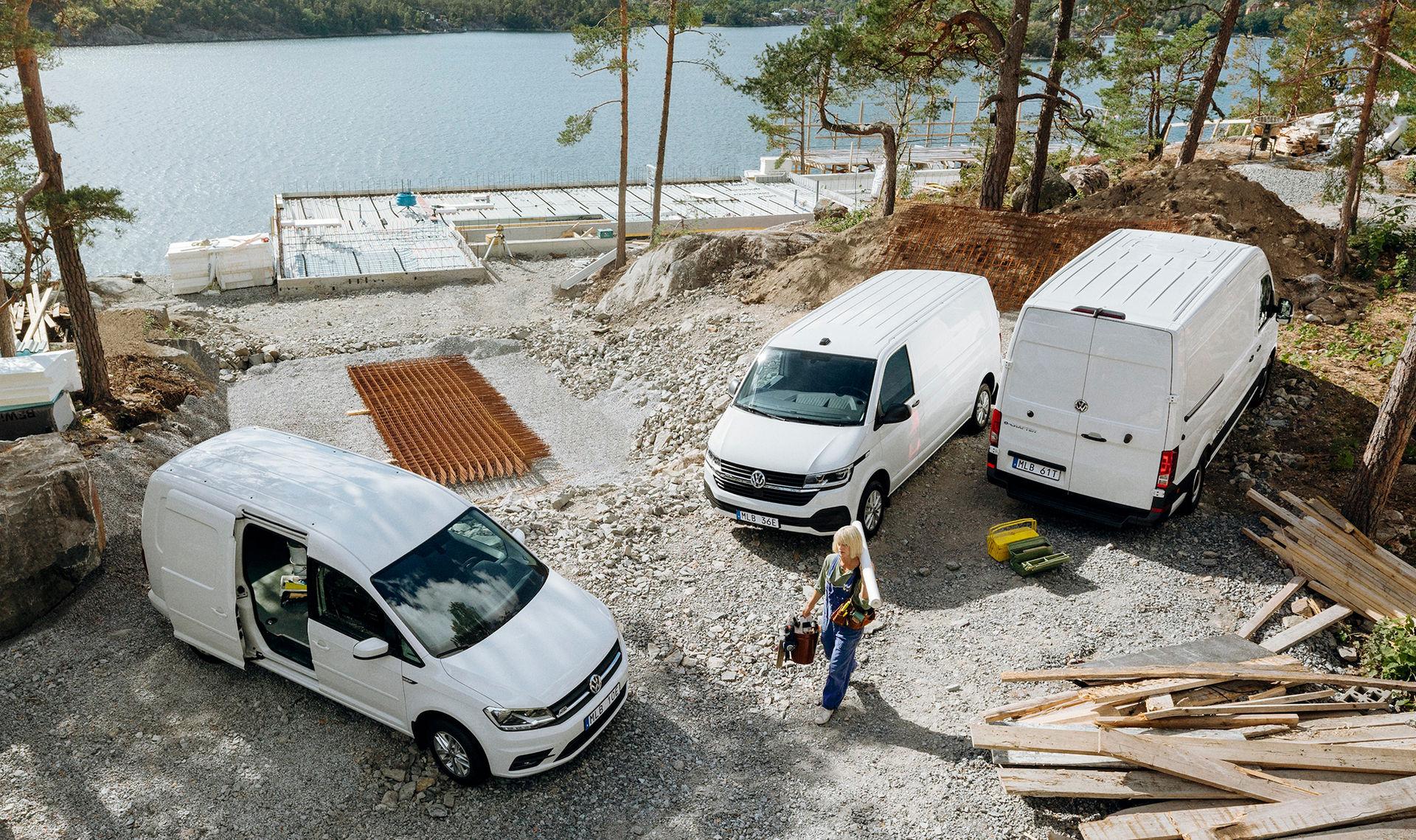 Volkswagen Caddy, Transporter och Crafter nu som elbilar