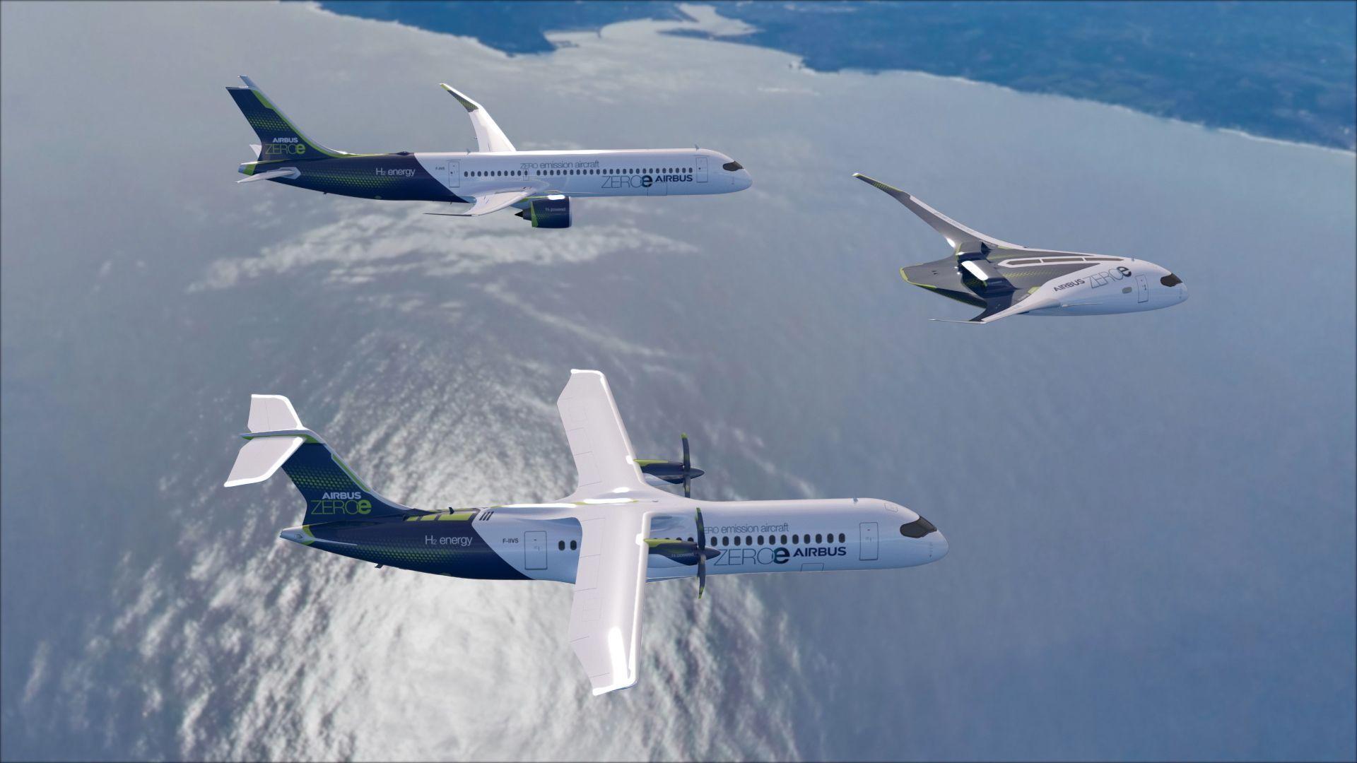 Airbus visar koncept på flygplan med nollutsläpp