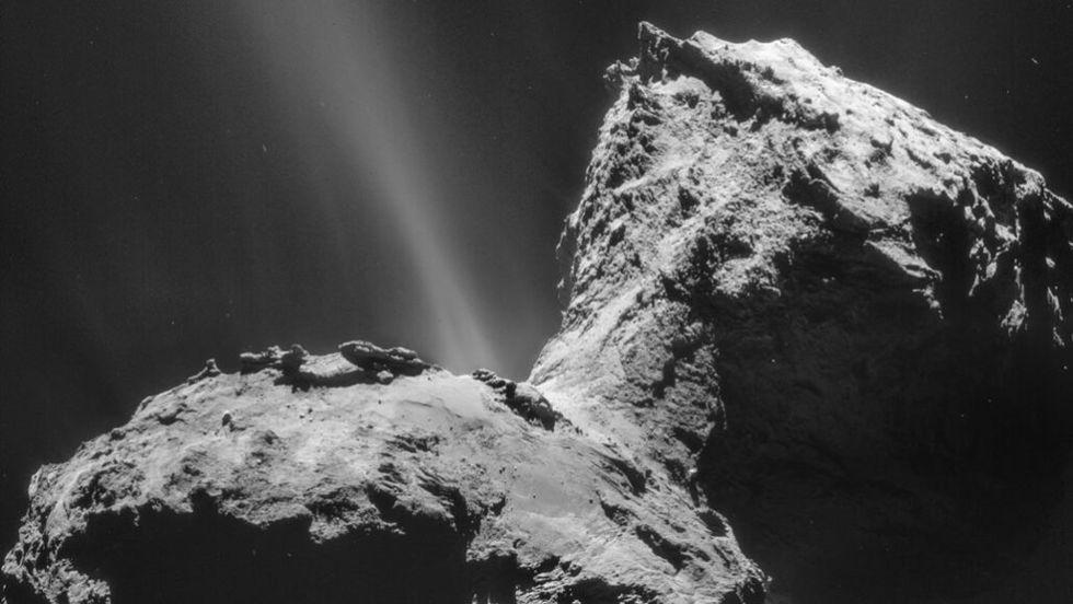 Kometer kan ha norrsken