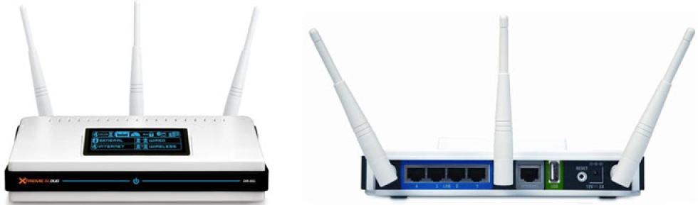D-Link DIR-855 - router med stöd för 802.11n