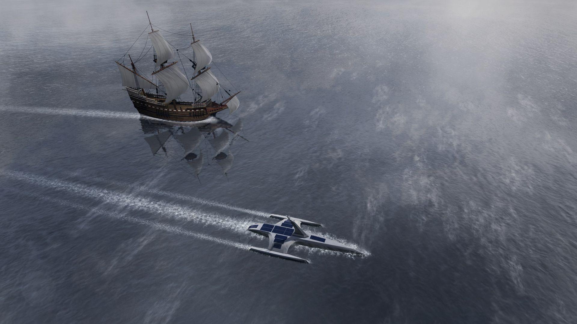 Nu har den självkörande båten Mayflower sjösatts