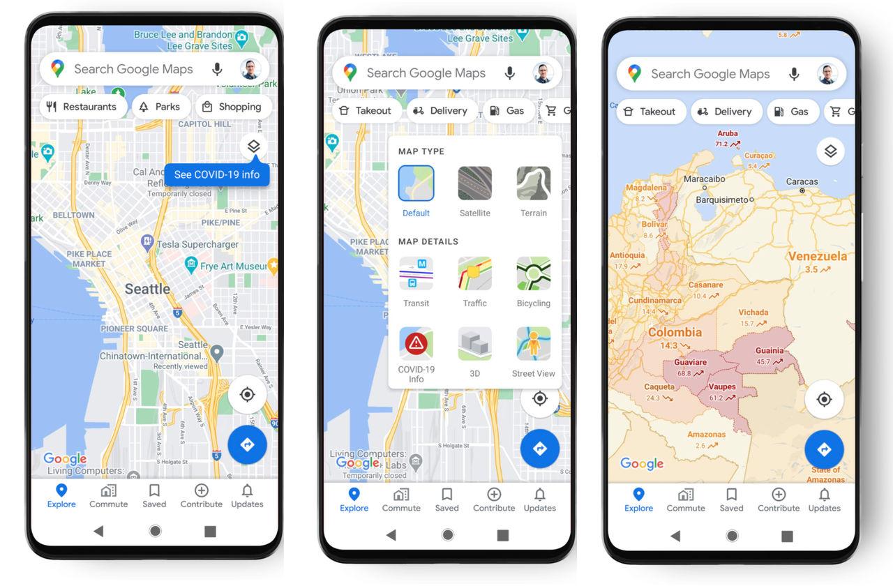 Håll koll på spridningen av Covid-19 med Google Maps