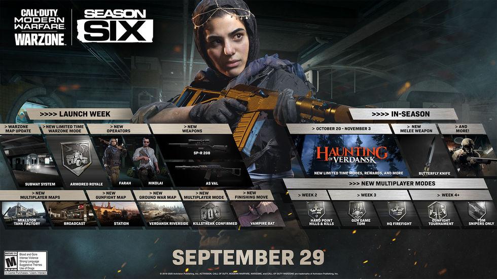 Sjätte säsongen i COD: Modern Warfare / Warzone nu igång