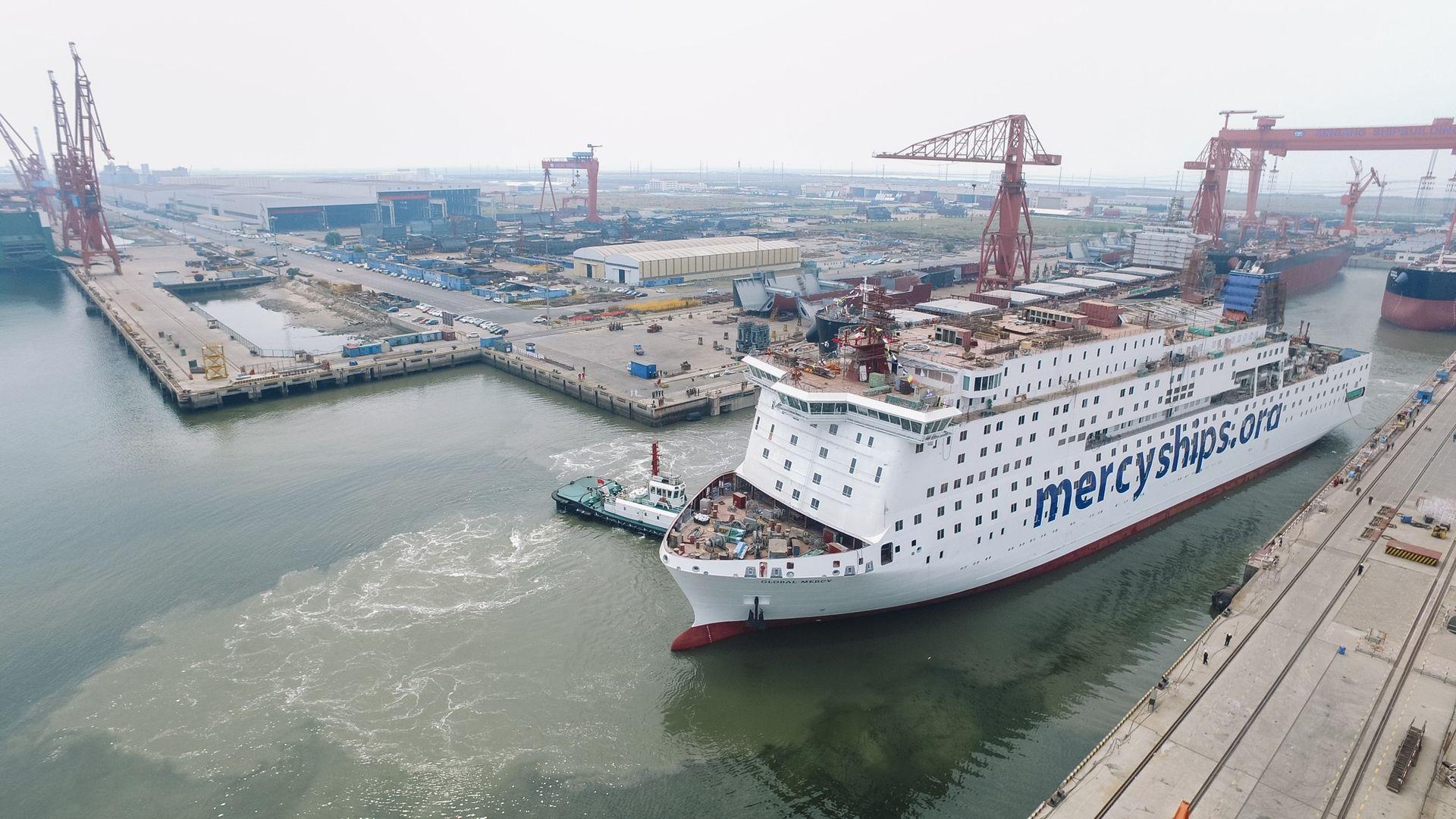 Det här är världens största civila sjukhusfartyg