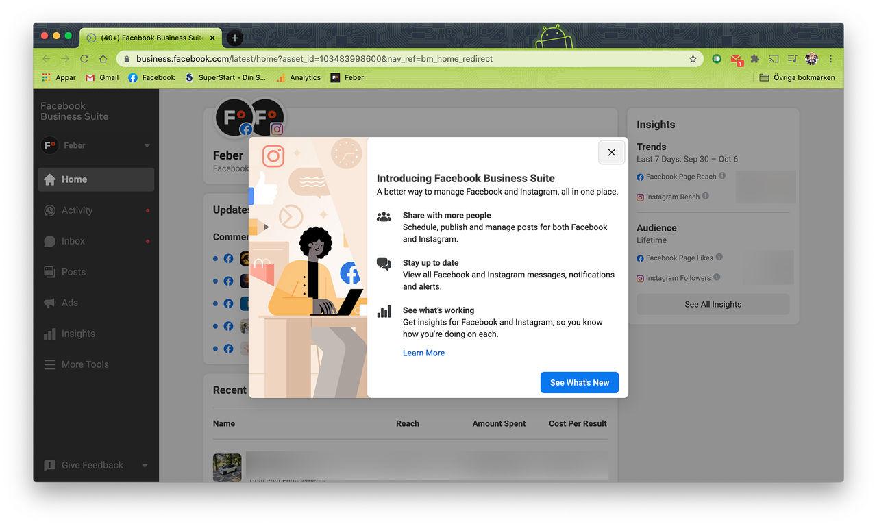 Facebook lanserar Facebook Business Suite