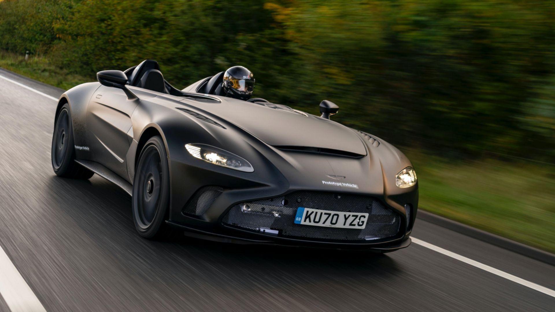 Aston Martin börjar vägtesta V12 Speedster
