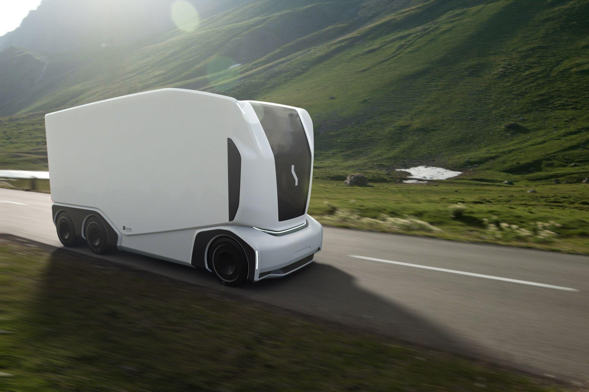 Einride visar uppdaterad version av självkörande lastbilen