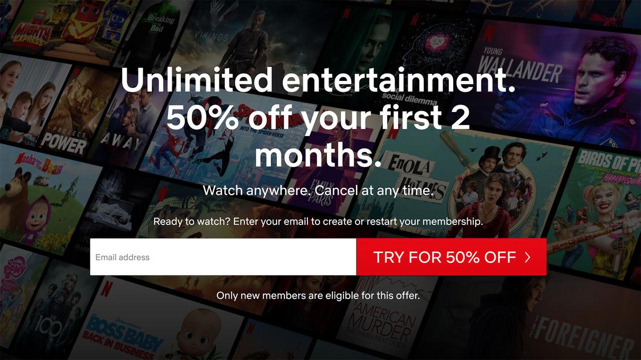 Netflix slopar gratismånad för nya prenumeranter
