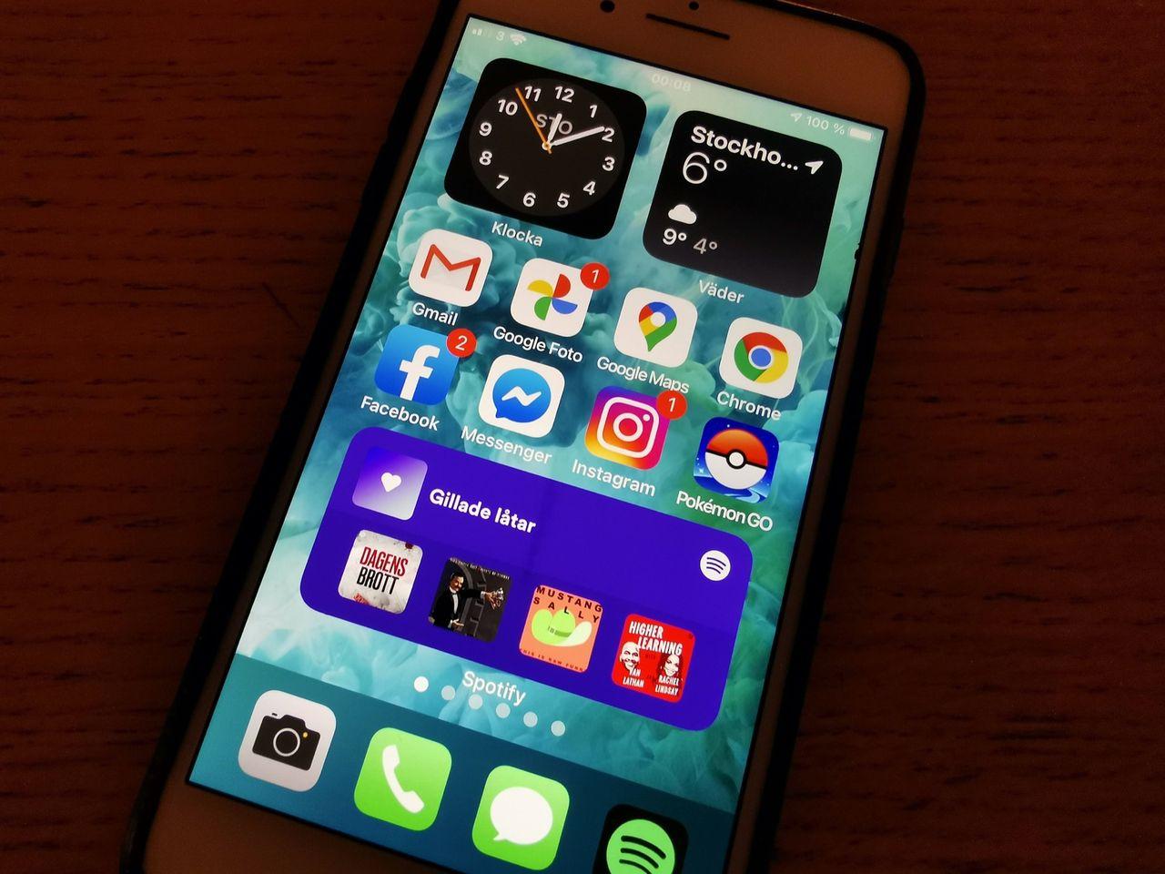 Nu finns Spotify som widget till iOS och iPadOS