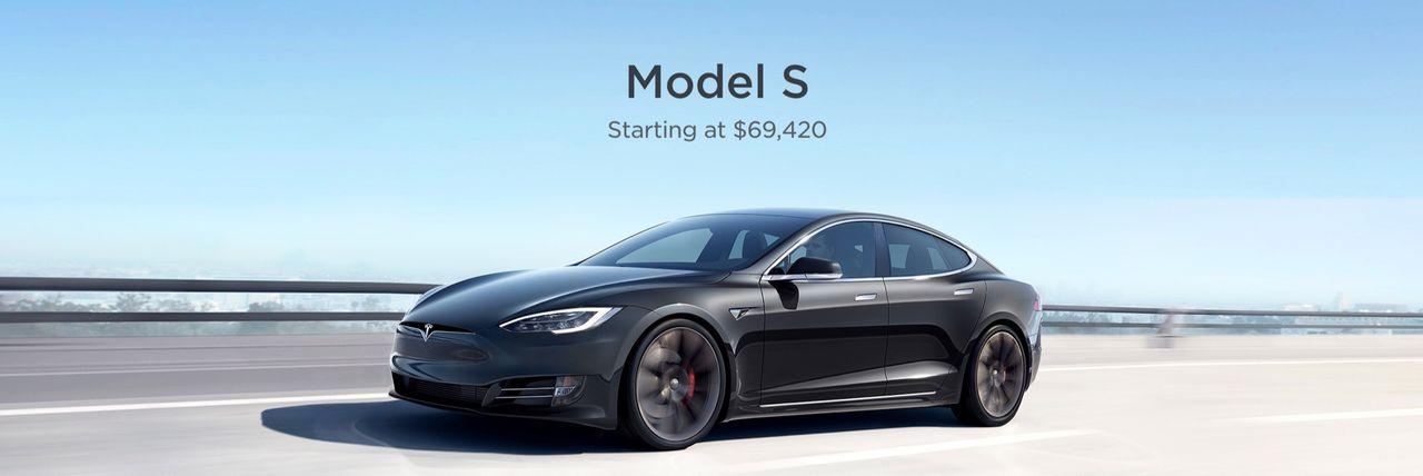 Tesla sänker priset på Model S till 69.420 dollar