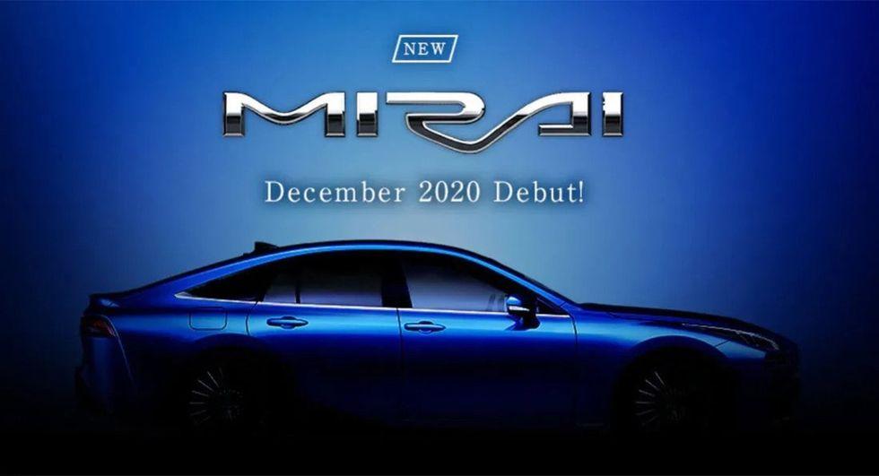 Nya Toyota Mirai i produktionskläder visas i december