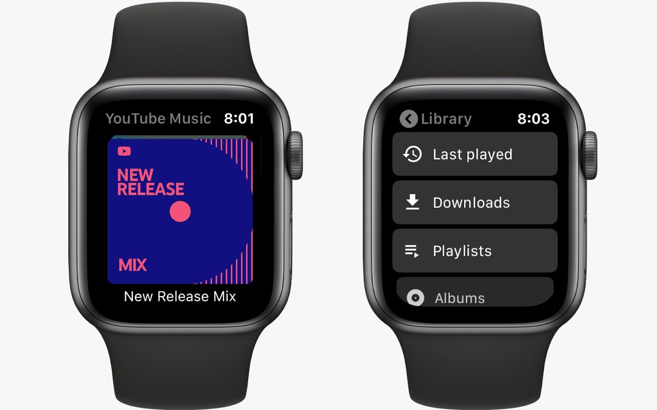 YouTube Music släpper app till Apple Watch