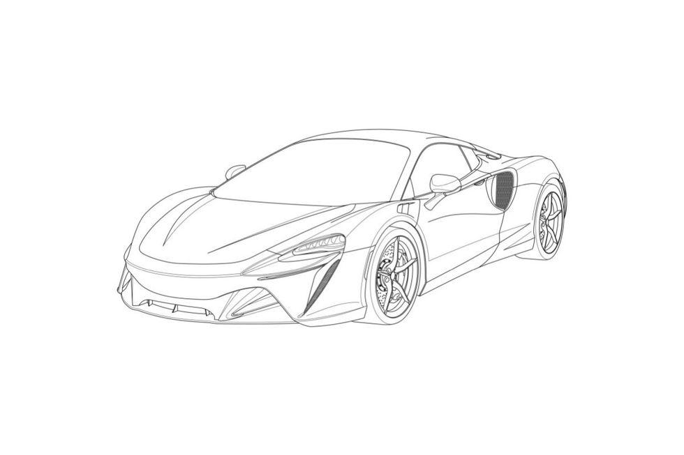 Patentritningar avslöjar McLarens nya sportbil