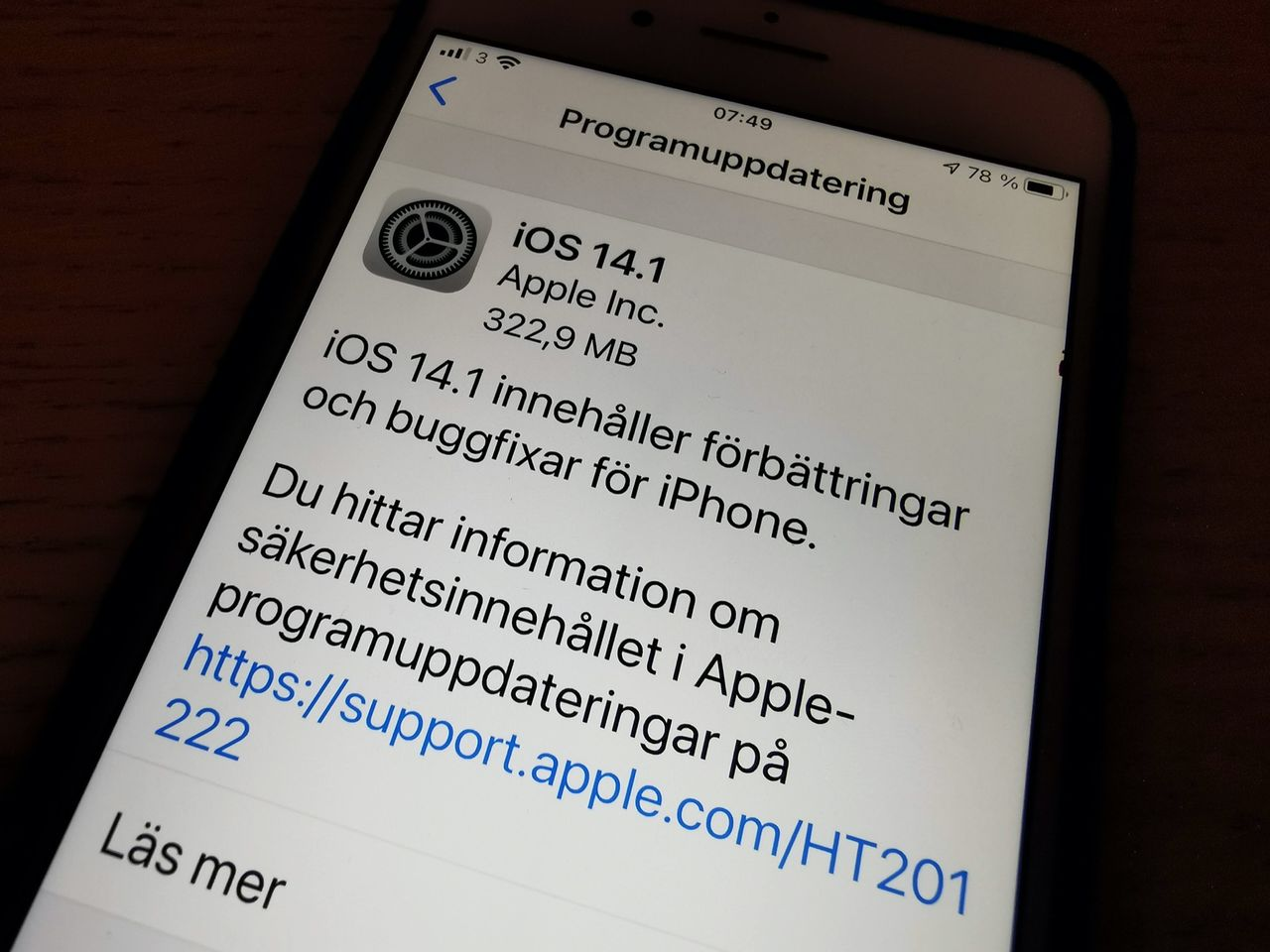 Apple släpper iOS 14.1