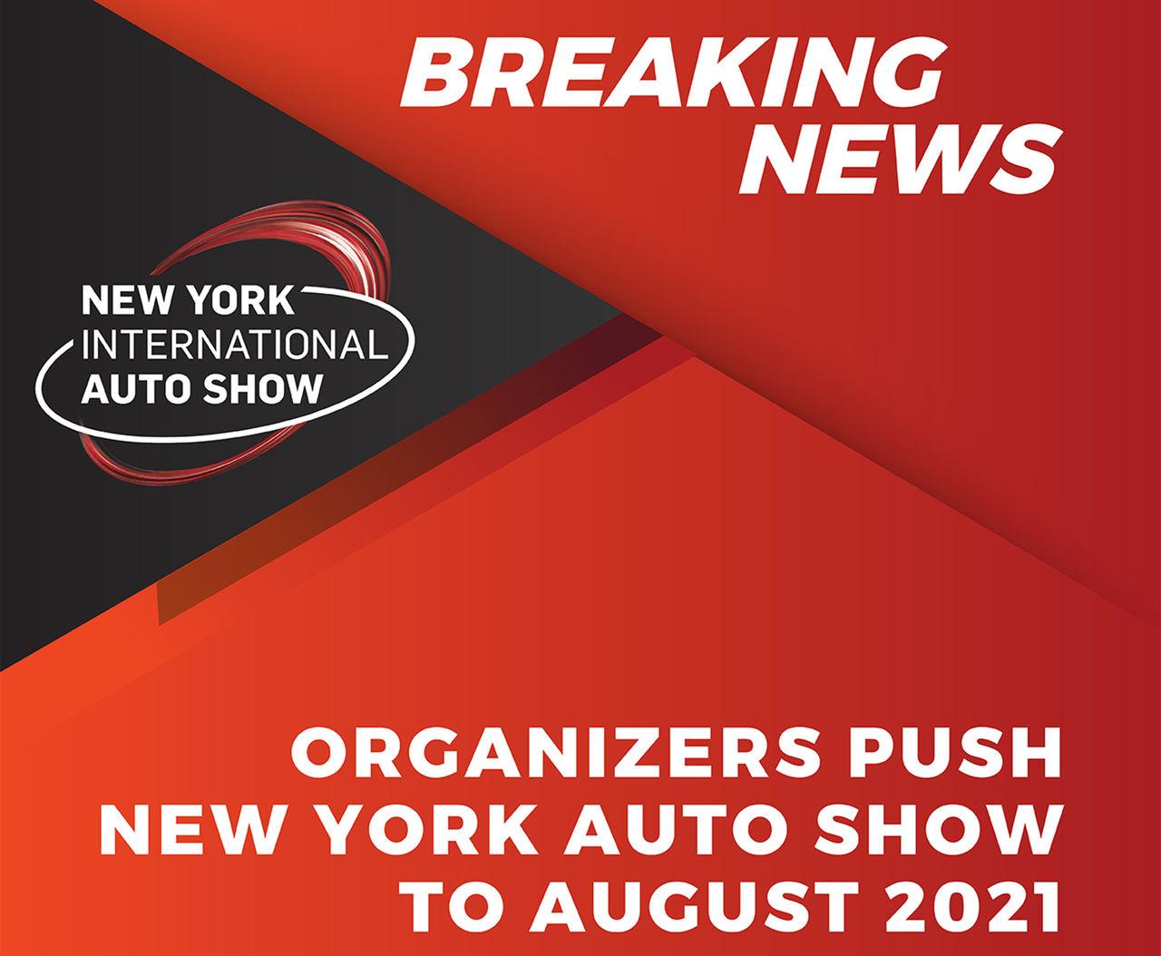 New York Auto Show flyttas till augusti 2021