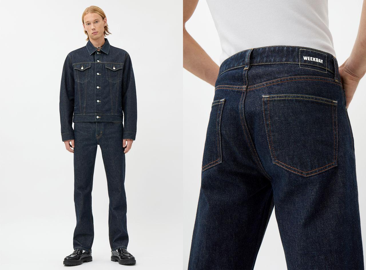 Återvinningsbara och nedbrytbara jeans