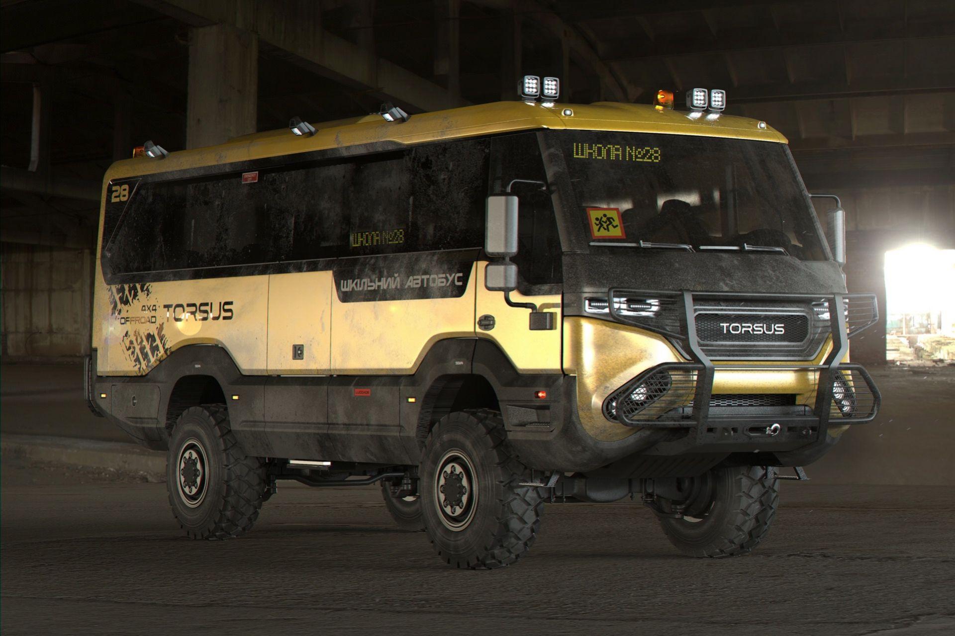 Skolbussen som är redo för apokalypsen