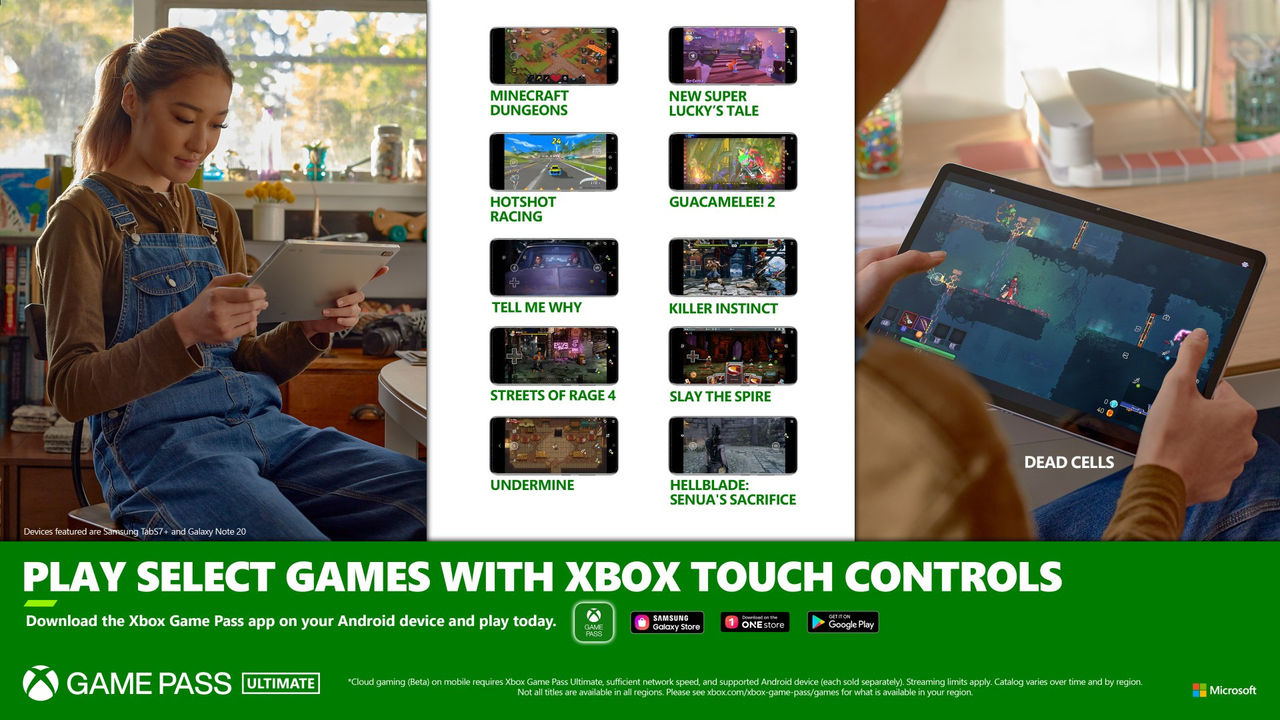 Vissa xCloud-spel får touchkontroller