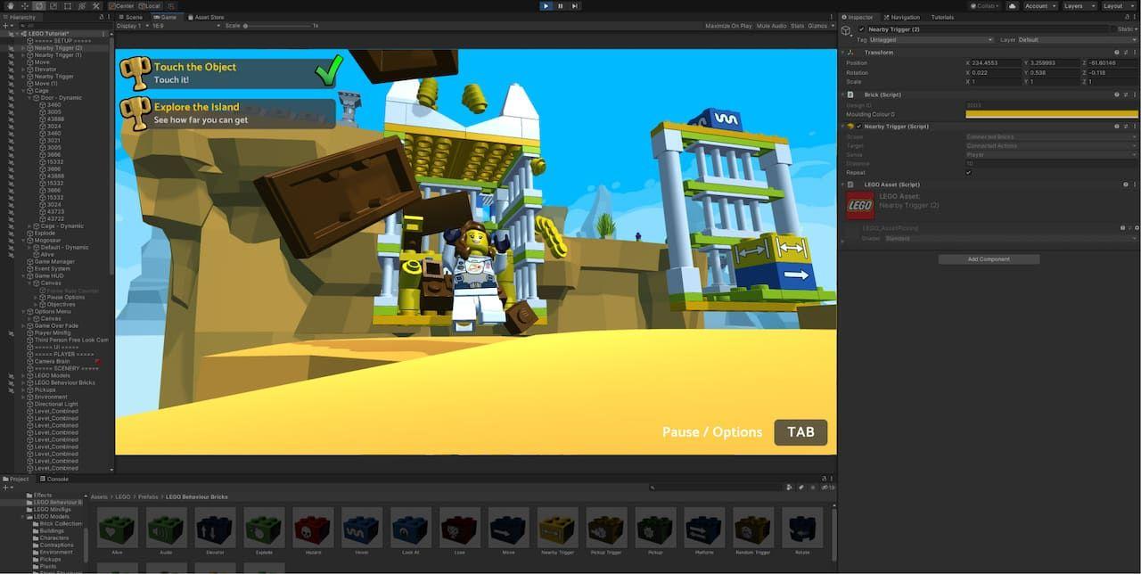 Nu kan man bygga egna LEGO-spel med Unity