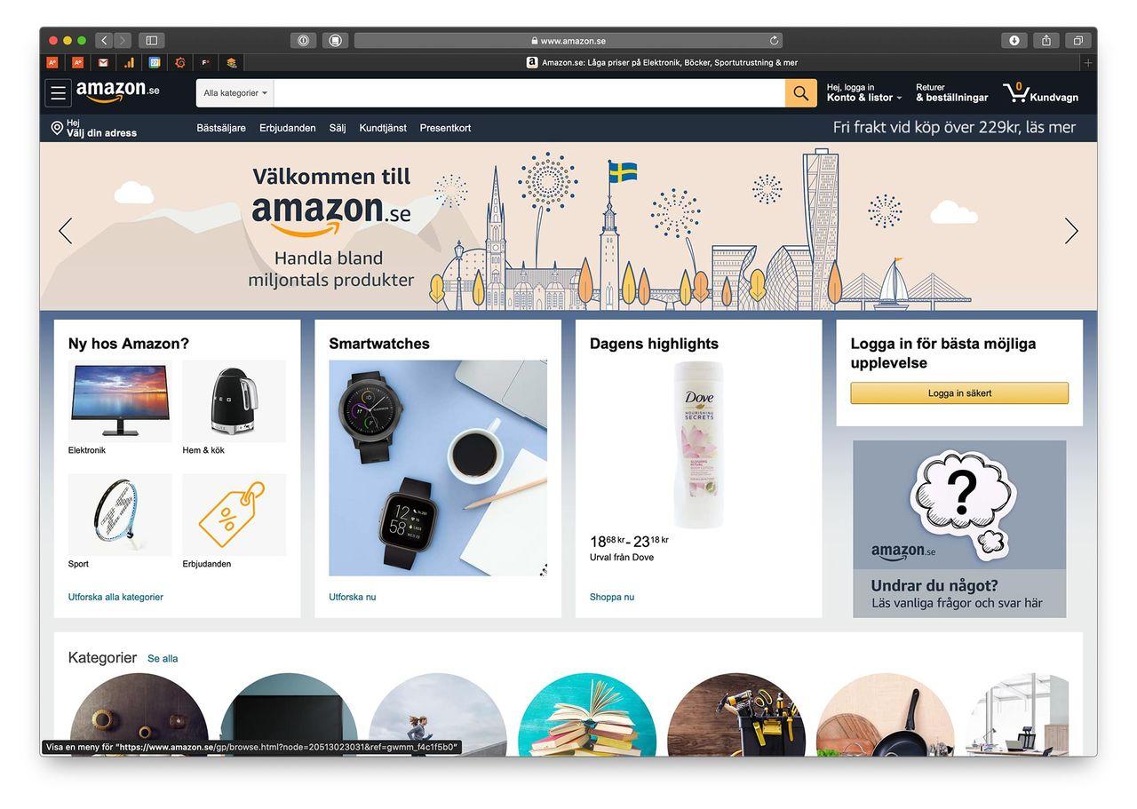 Amazon.se har öppnat!