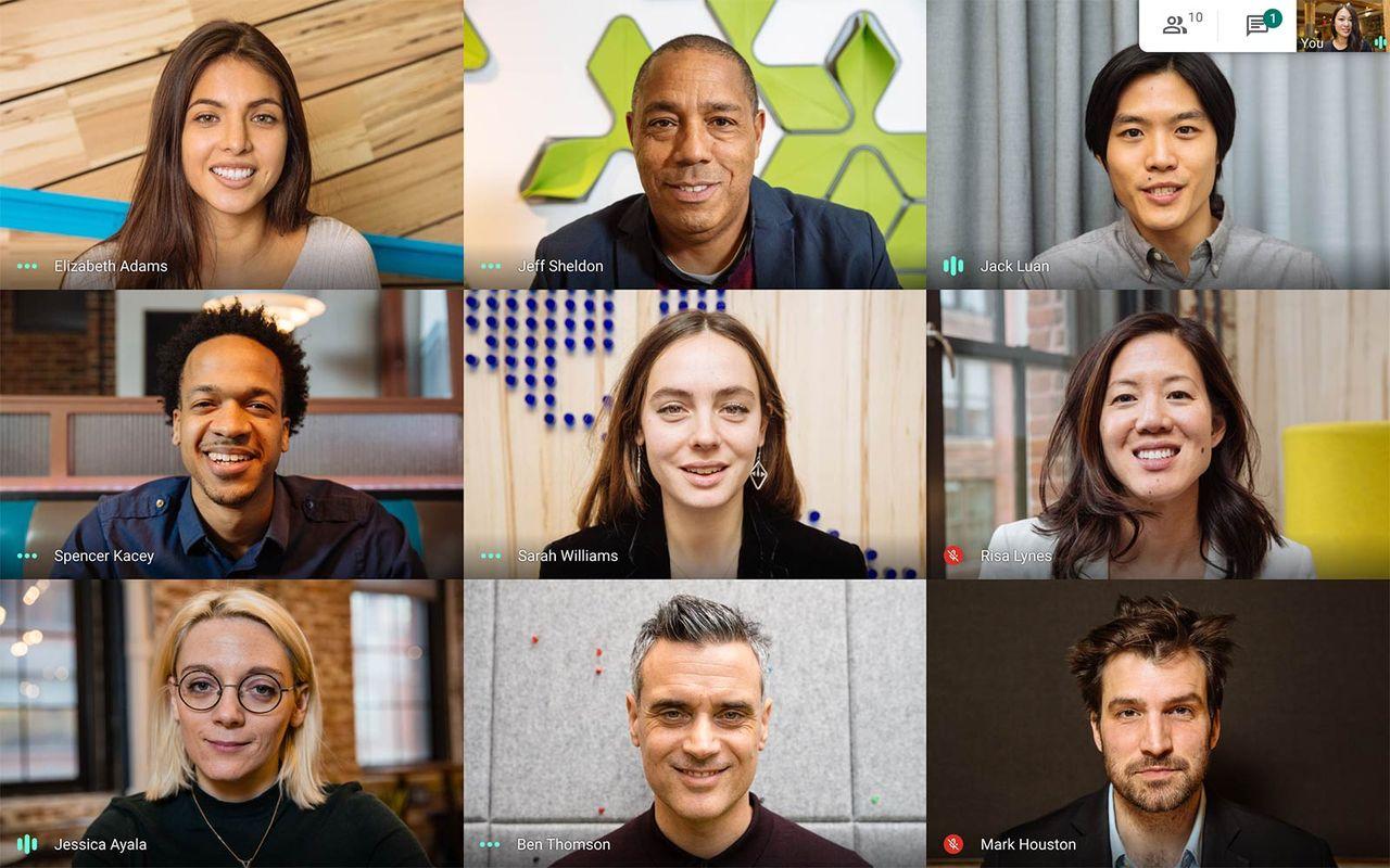 Google Meet rullar ut egna bakgrunder