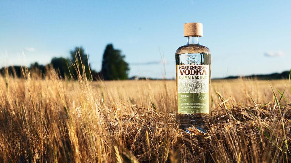 Vodka framställd på regenerativt odlad korn