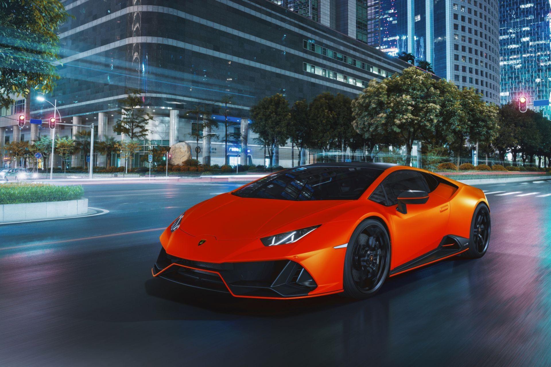 Lamborghini Huracán Evo i fem stycken nya kulörer