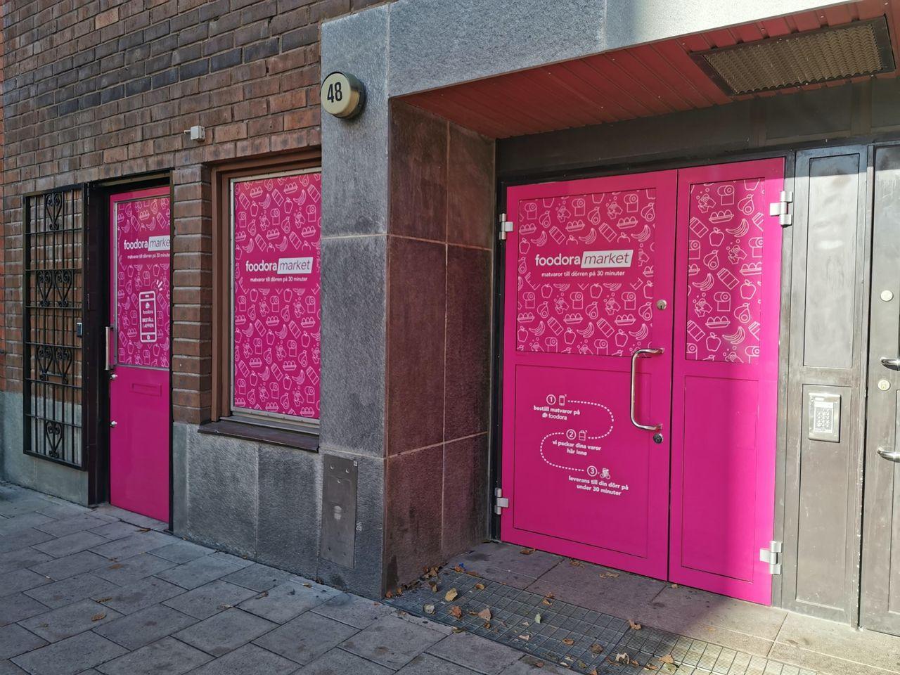 Foodora öppnar fler livsmedelsbutiker i Stockholm