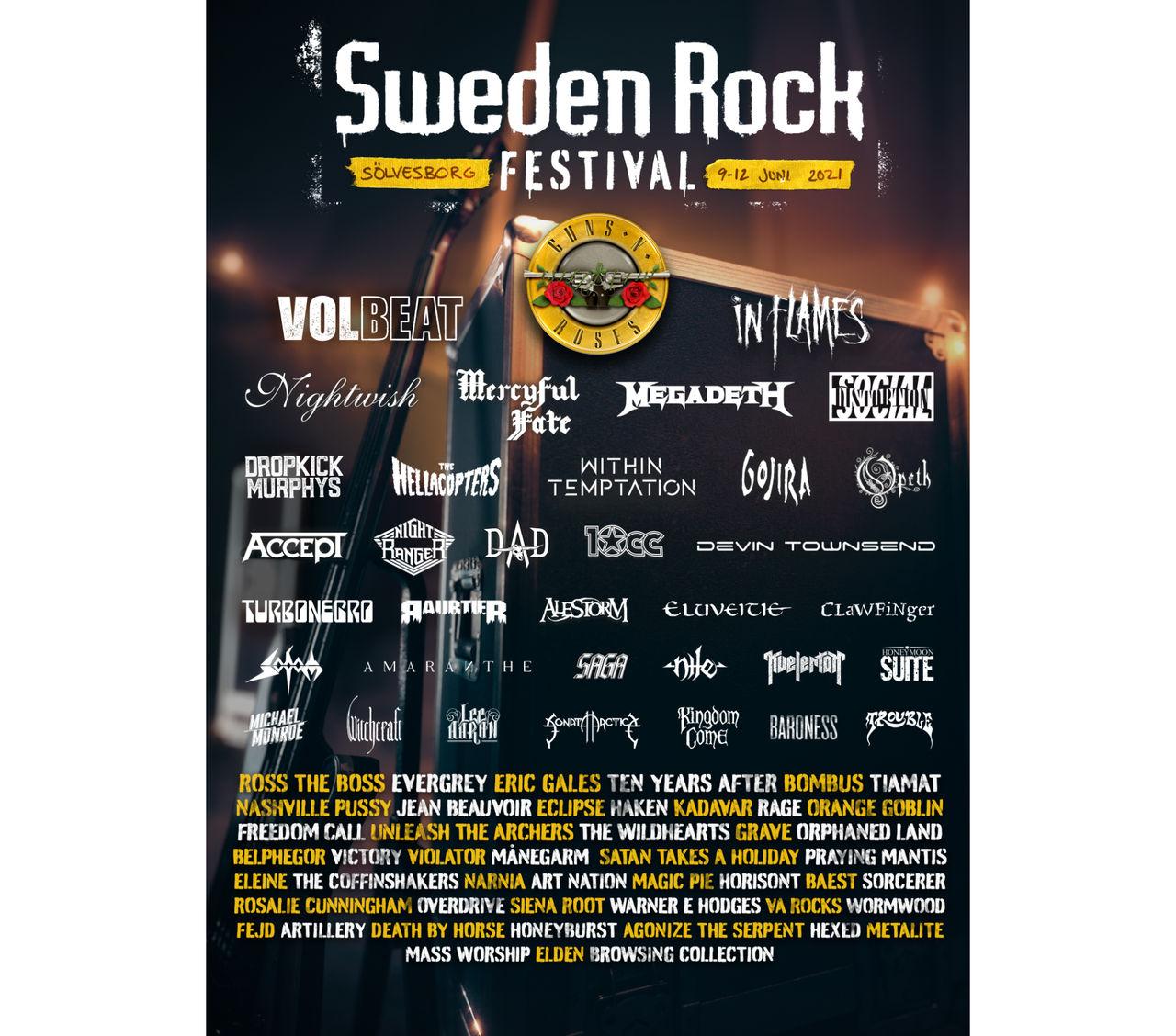 83 artister klara för Sweden Rock Festival 2021