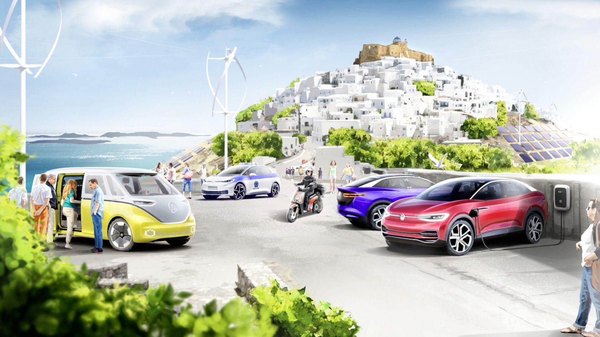 Volkswagen ska göra om grekisk ö till elfordonsparadis